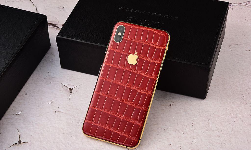 iPhone Xs系列出新款了?橘红色鳄鱼皮版鲜艳醒目