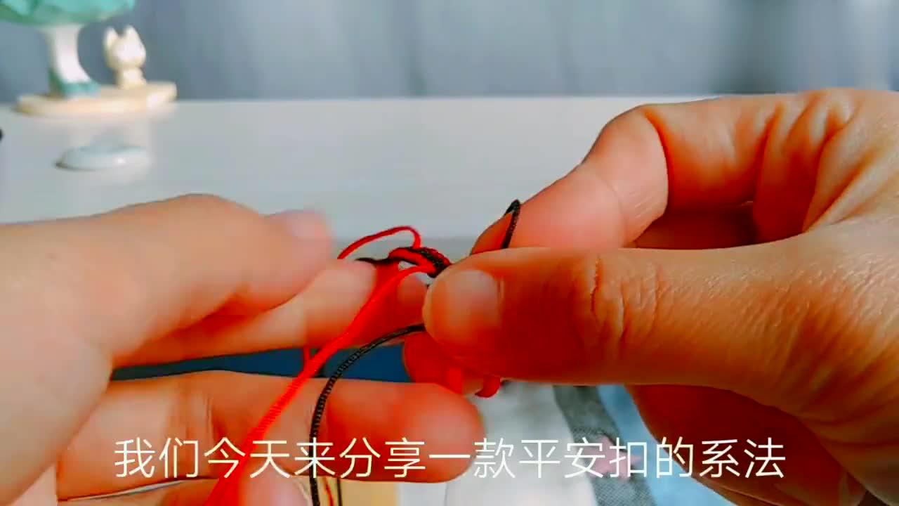 翡翠平安扣新系法,编一个小线圈不用珠子也可以系出好看的玉吊坠