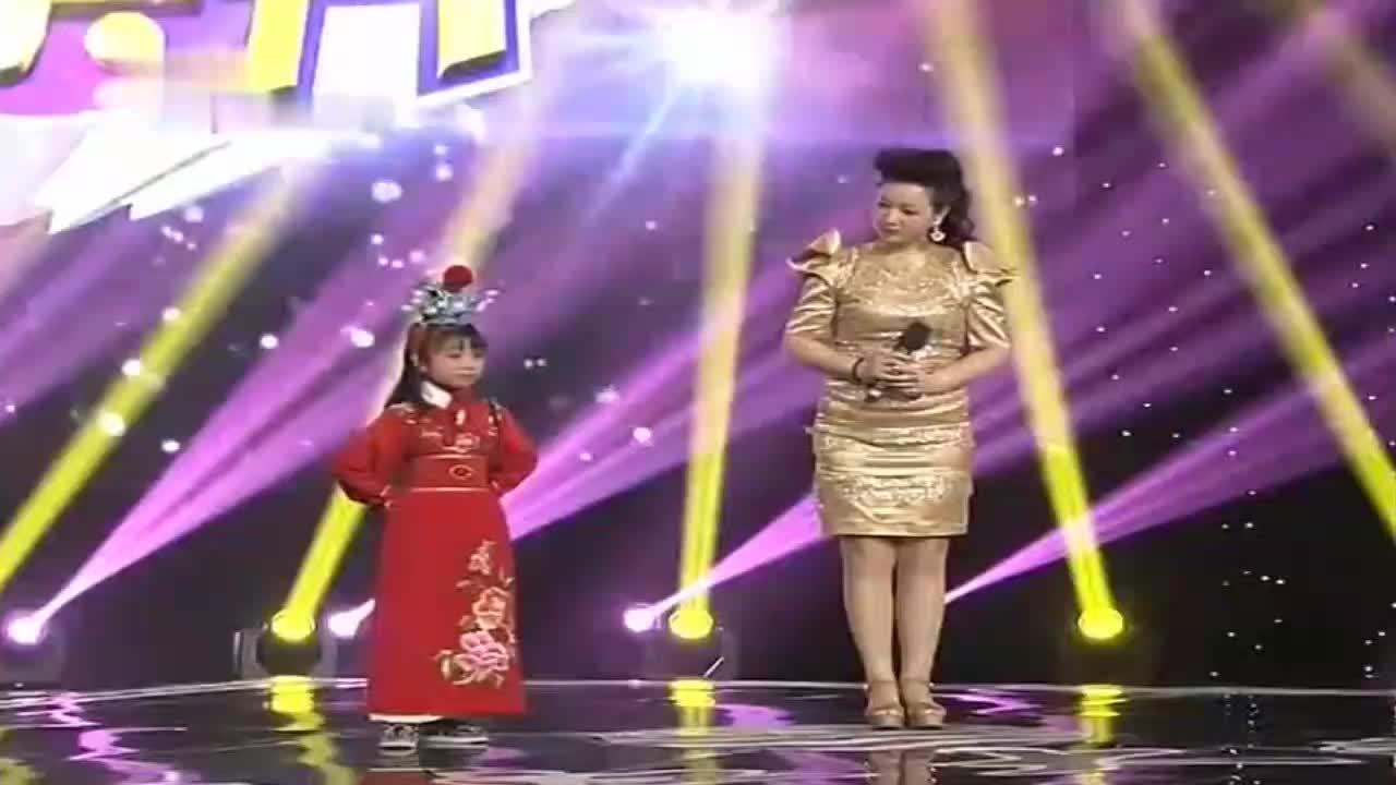 7岁孩童于刘桂娟合唱越剧《红楼梦》选段,天上掉下个林妹妹