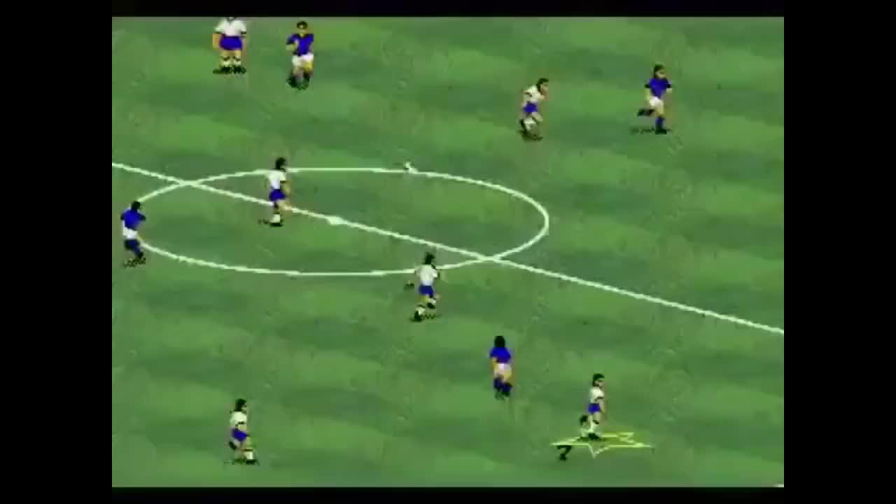 欢乐FIFA94裁判出黄牌追着球员跑