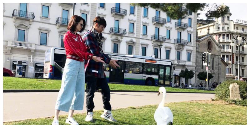张丹峰携爱妻游玩瑞士,又开始明晃晃的秀恩爱了