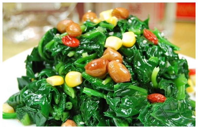 菠菜创新做法,8种食材烫拌菠菜, 春天里开胃爽口的营养小菜