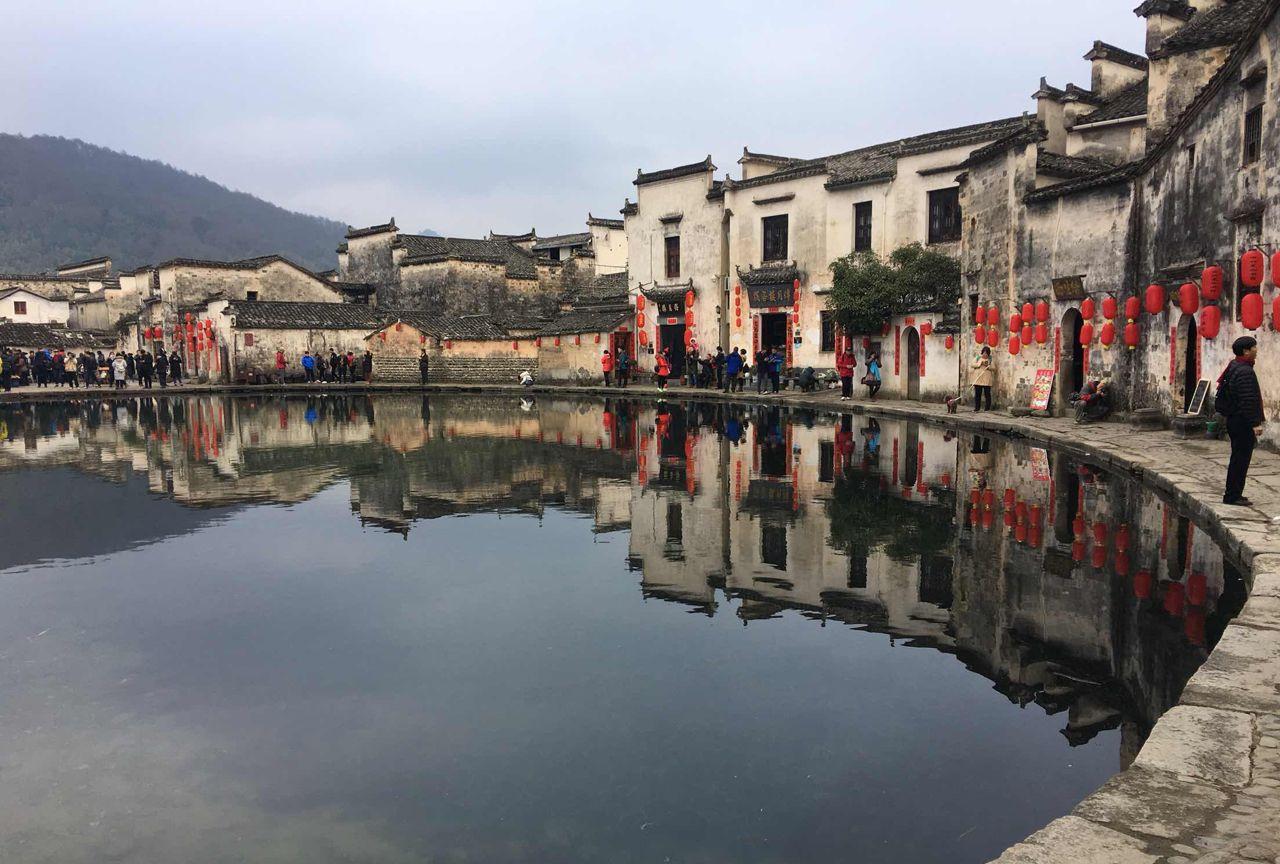中国画里的乡村宏村!美的不像话!
