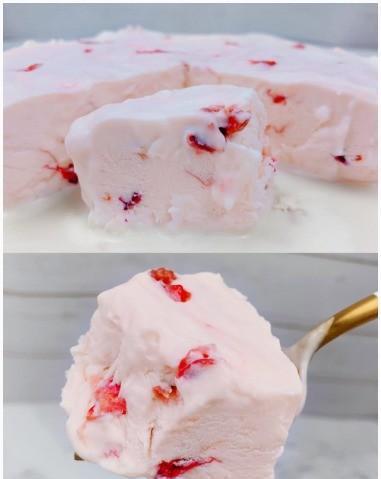 玫瑰酸奶冰淇淋酸牛奶果冻,必要的冷饮