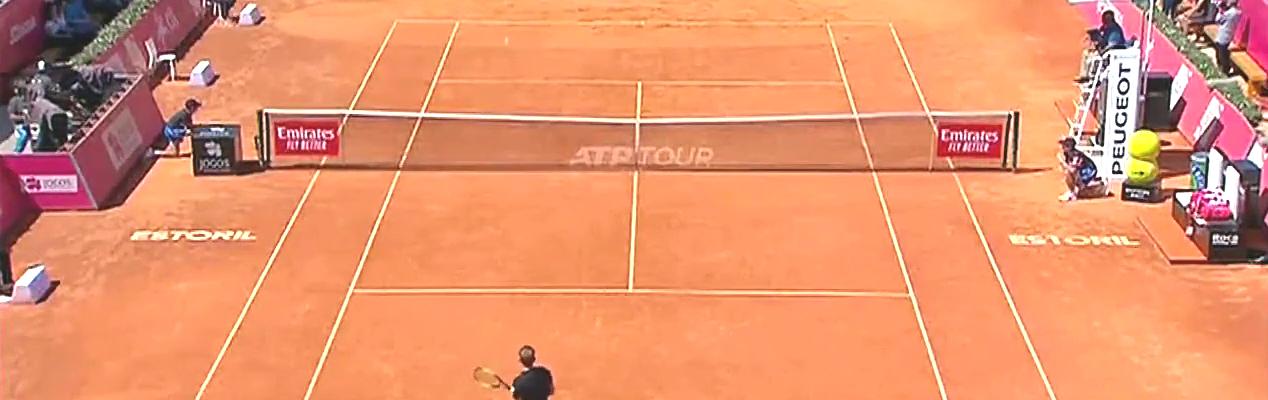 网球赛场,ATP埃斯托里尔站戈芬淘汰卫冕冠军