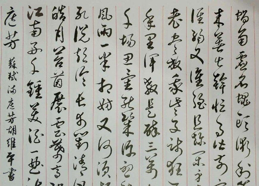 胡维平草书作品 苏轼《满庭芳 蜗角虚名》