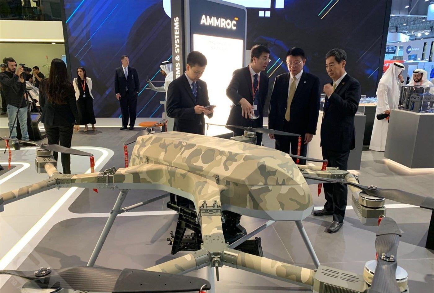 多旋翼无人机A-HAWK-I系统亮相阿联酋EDGE集团展台