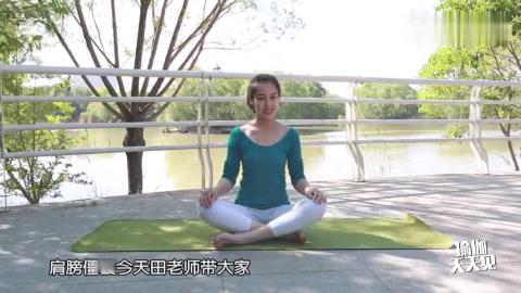 针对肩颈僵硬疼痛的瑜伽练习坐着练效果一样好