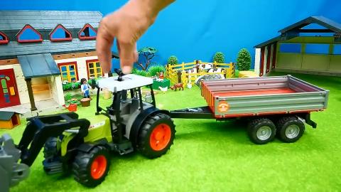 儿童玩具认知农场的汽车玩具拖拉机推土机挖掘机运输车铲车