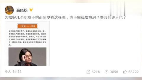 高晓松被侃像《默读》费渡网友高老师打扰了