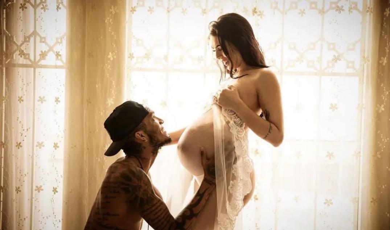 河南建业外援卡兰加与妻子一起拍摄孕照,恭喜卡兰加