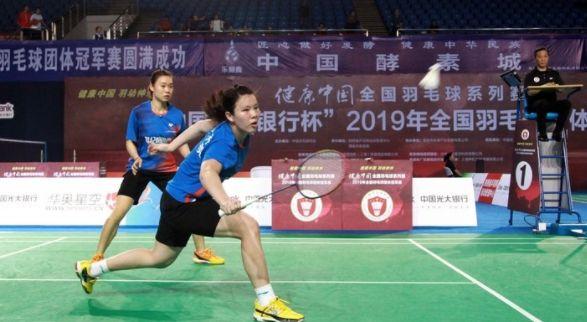 陕西渭南:李跃安羽毛球比赛图集欣赏