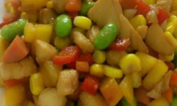 鸡丁炒杂蔬,锅泡藕苗虾球,香辣杏鲍菇丝这几道美食的做法