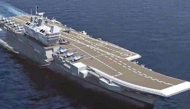 印度国产航母维克兰特号又开始舾装了