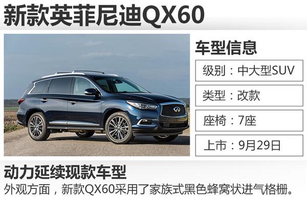 懂车皇:英菲尼迪新款QX60在外观方面进行升级,家族式前脸造型
