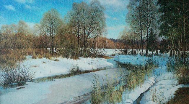 俄罗斯油画家玛秋欣·瓦西里作品欣赏