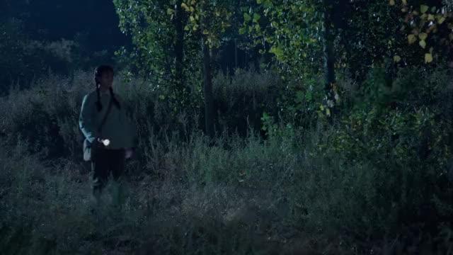 三妹:三妹夜间去巡逻,却发现杨豆筋躲在树林中