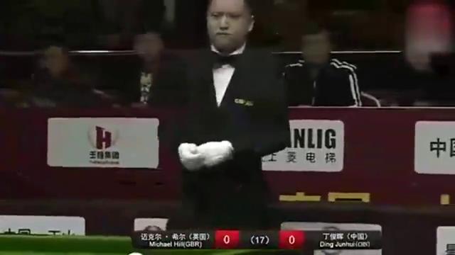 打中式台球的丁俊晖有多恐怖70秒一杆清台,对手都不用上了!