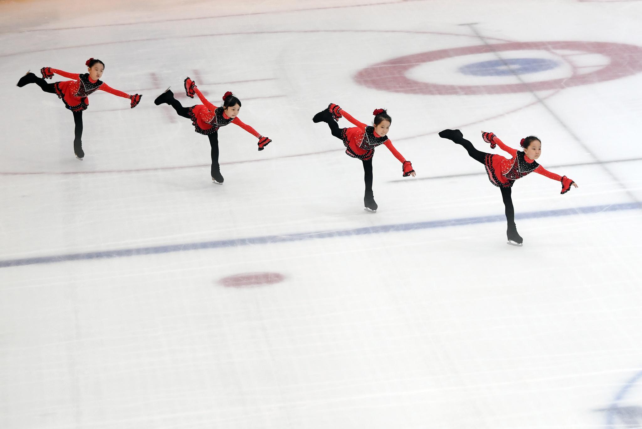 """花样滑冰——中国花样滑冰俱乐部联赛上的南方""""冰娃"""""""