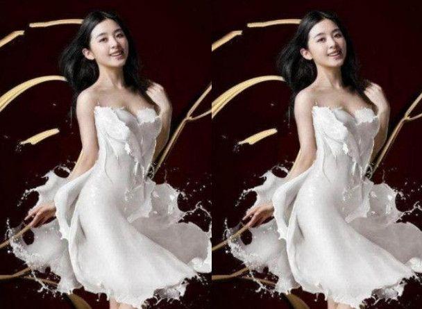 """""""一丝不挂""""穿牛奶裙的明星,张含韵像邻家姐姐,赵丽颖让人惊艳"""