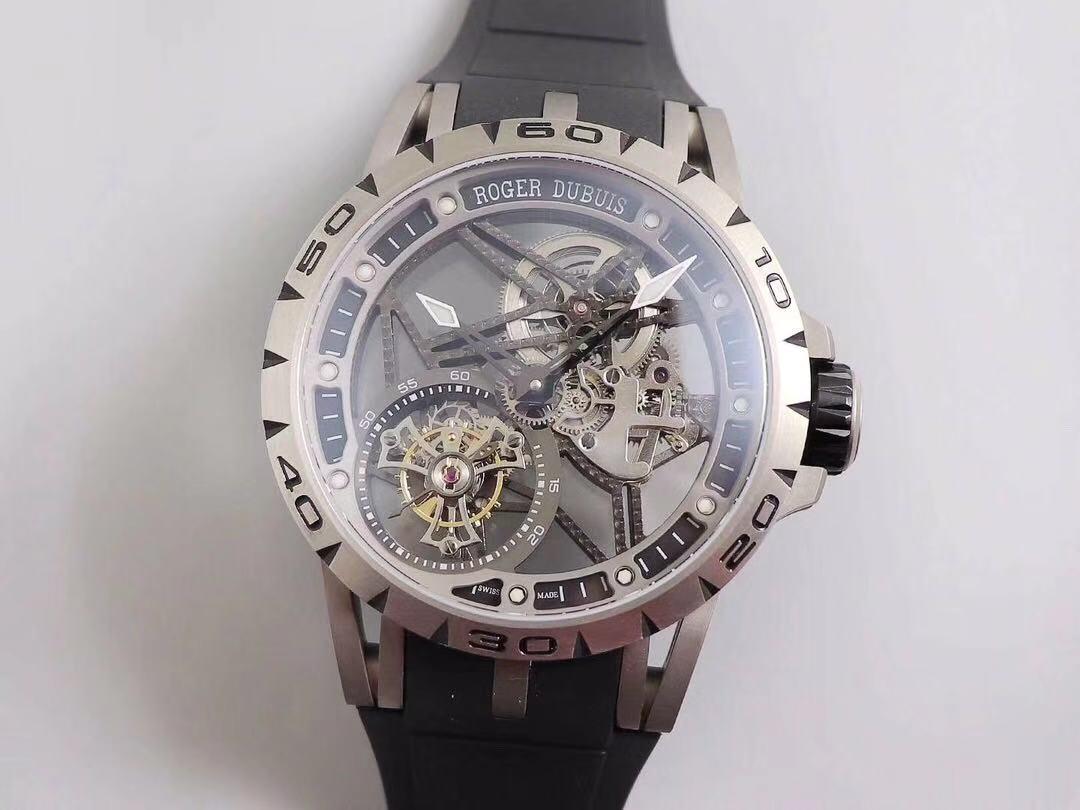 JB罗杰杜彼王者系列陀飞轮腕表,镂空飞行陀飞轮腕表的代表