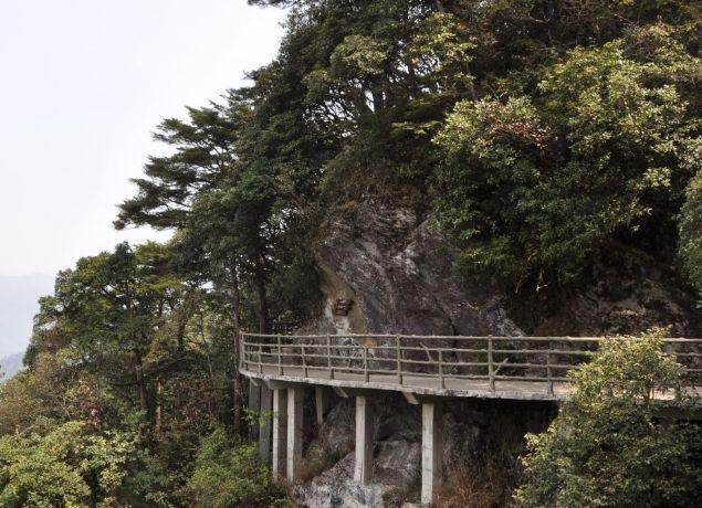 黄洋界保卫战胜利纪念碑,位于井冈山黄洋界哨口,值得一去