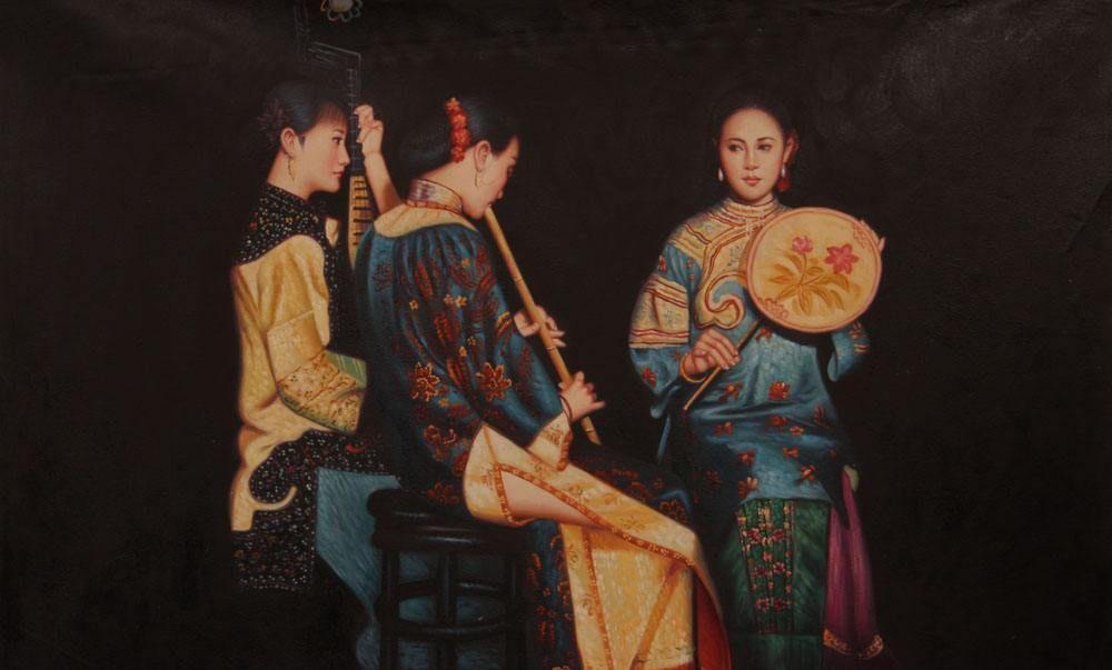 陈逸飞油画:运用西方技巧,赋予作品中国精神,最贵一幅1.495亿