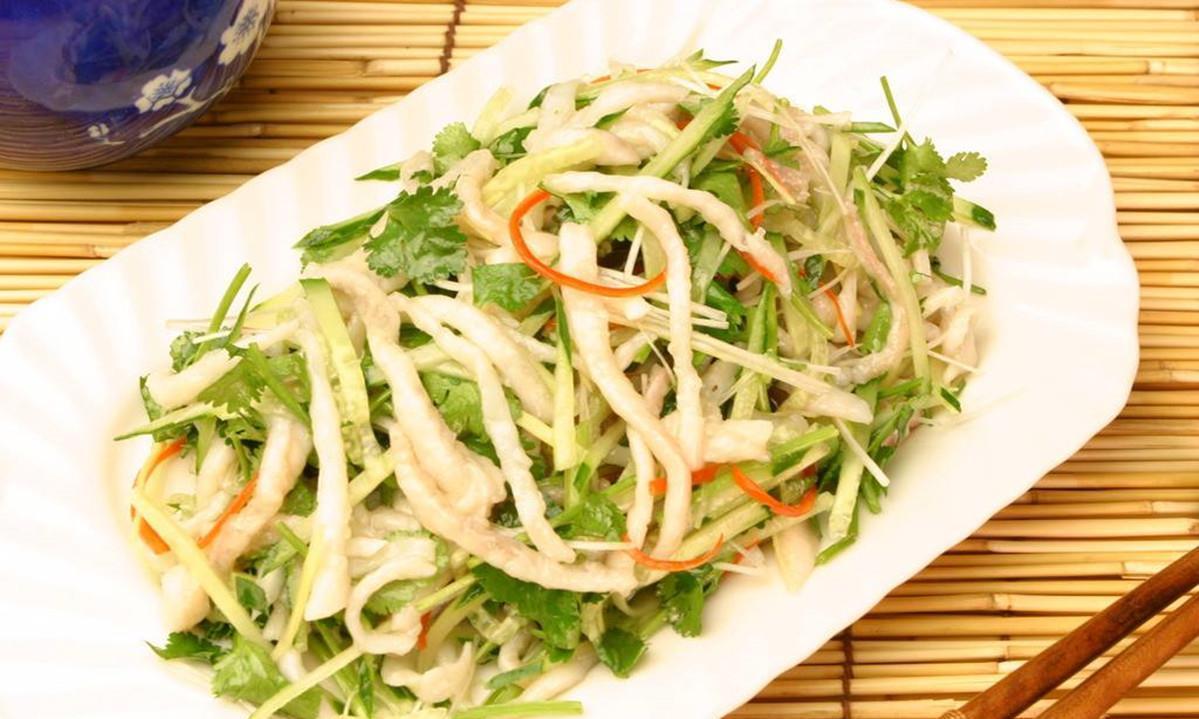 鱼丝这样做,吃起来新鲜美味,鲜味十足,并且热量极低