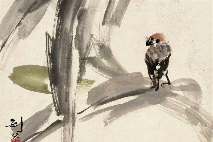 岭南画派创始人高剑父画禽鸟