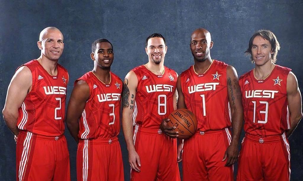 NBA全明星较量:5后卫对阵3中锋2大前,谁会笑到最后?