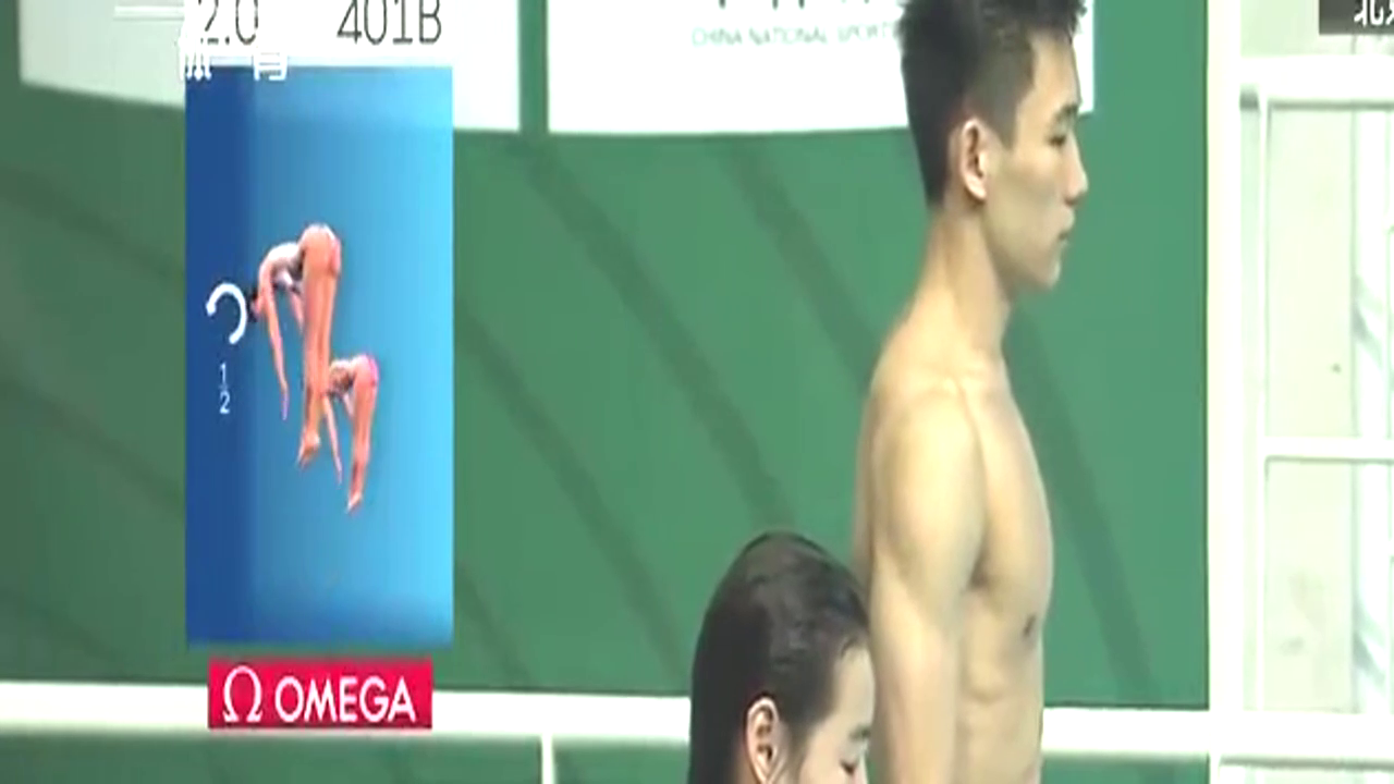 第一跳满分60,杨昊昌雅妮直接跳出52,解说:就中国队有看头