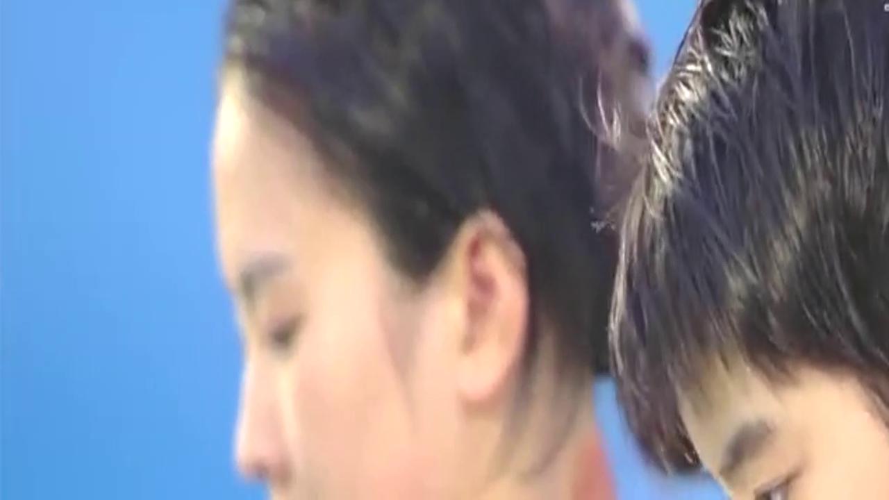 陈若琳刘蕙瑕这一跳,高度距离入水统统完美,87.36高分夺冠!