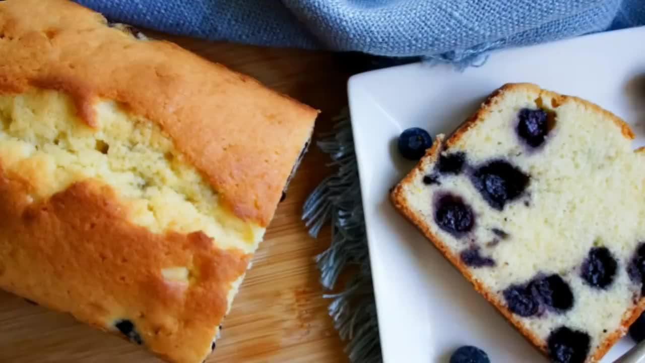 起司蓝莓磅蛋糕的做法蓬松暄软香甜软糯好吃简单又美味