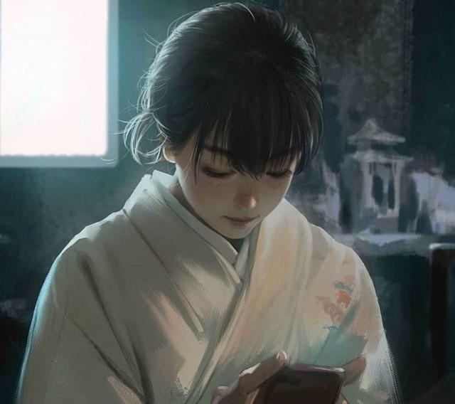 艺术家系列NO.196-Go.6e 韩国插画师 少女时代的清纯照片插画