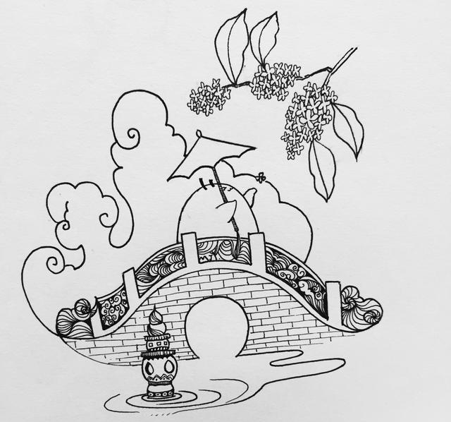 小白游历记之简笔画线描城市篇——杭州
