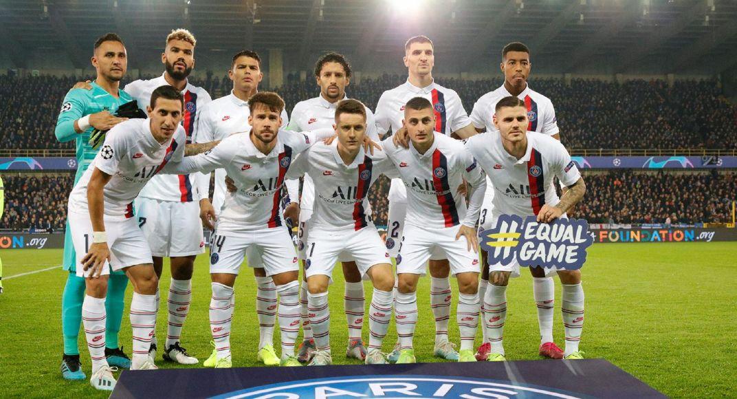 欧冠小组赛第3轮巴黎圣日耳曼客场5:0布鲁日,姆巴佩打进三球