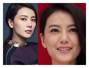 开扒娱乐圈中女明星照片和本人素颜对比照,你觉得谁差别最大?