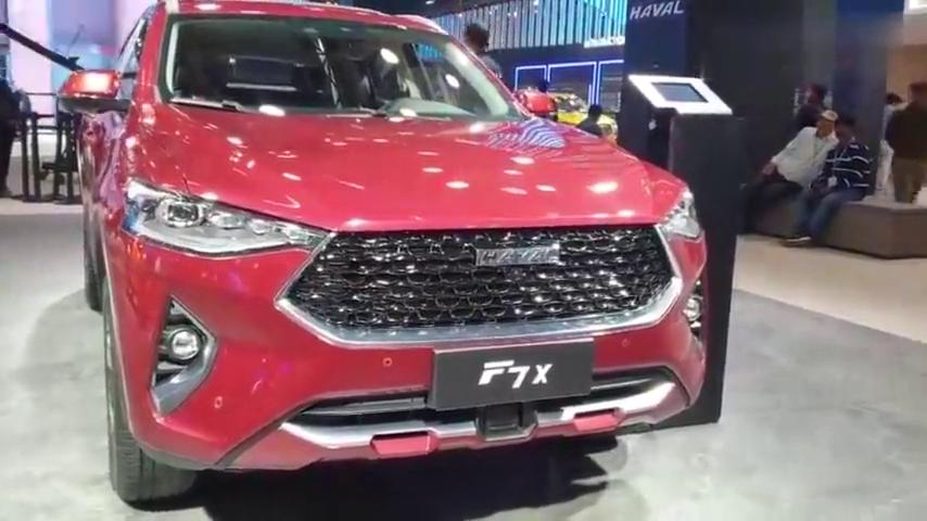 视频:2020款长城哈弗F7X车展亮相,看到这颜值和内饰,给个不心动理由