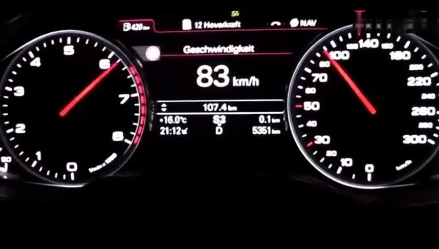 视频:12缸的奥迪A8L加速有多恐怖!