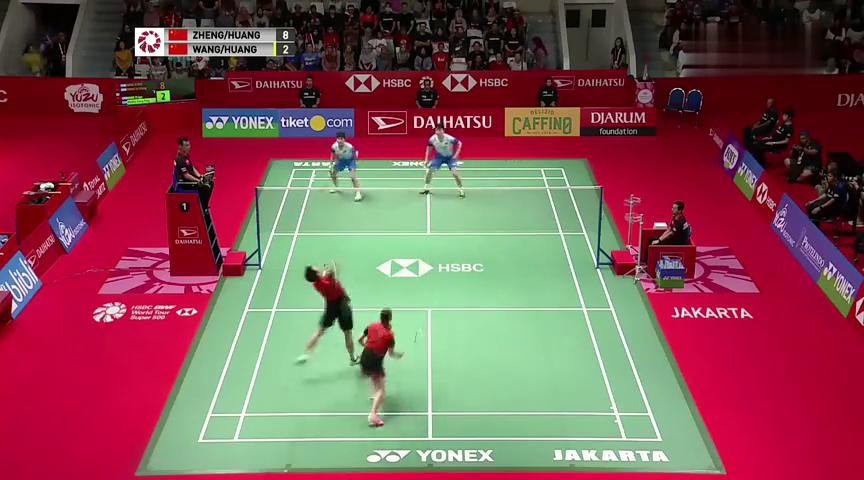 2020印尼大师赛骚操作黄雅琼活球过程换球拍