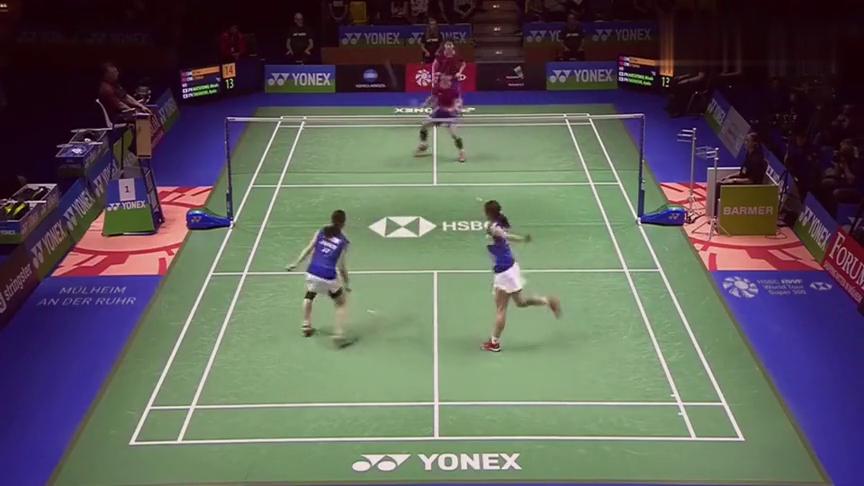 羽毛球:面对奥运冠军也绝不手软,李茵晖抓住机会暴扣得分