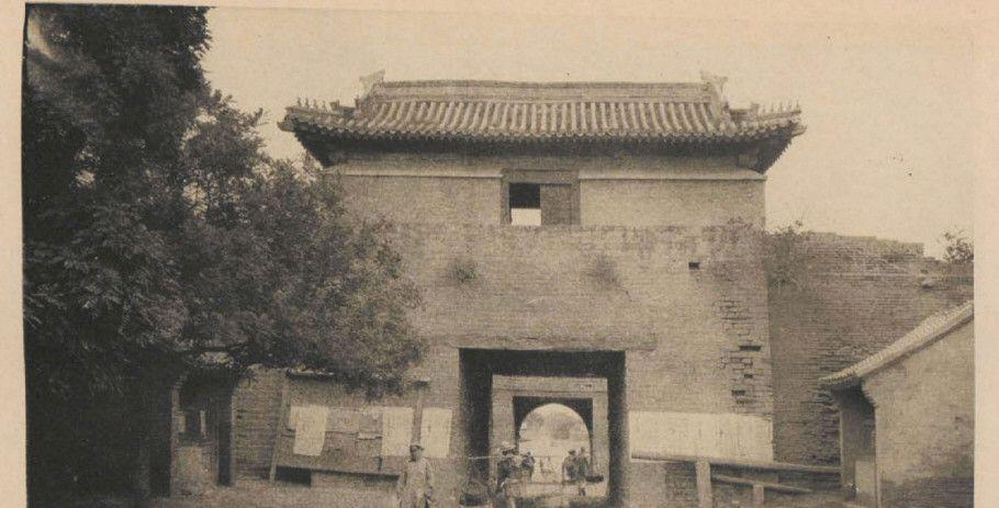 老照片:百年影像老北京城楼,内城九门之阜成门