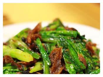 豆豉鲮鱼油麦菜小窍门,1分钟就能学会,不用去饭店点餐了
