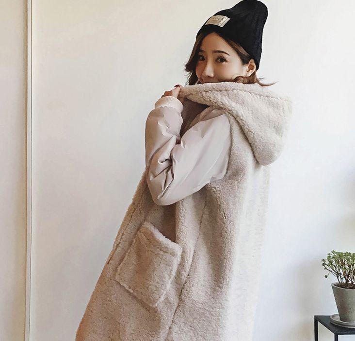 潮流街:仿羊羔毛宽松保暖外套,身材发福也能穿