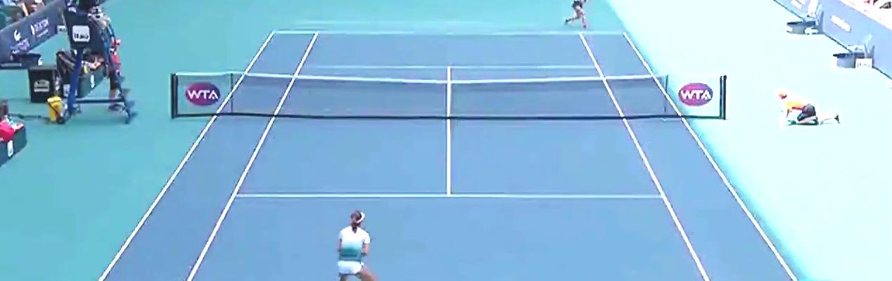 网球赛场,中国金花王蔷遗憾止步,哈勒普闯入迈阿密站四强