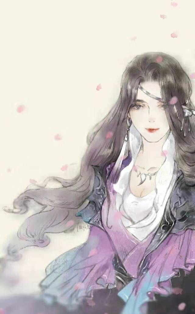 古风手绘女生唯美壁纸,春风得意,满身喜欢!