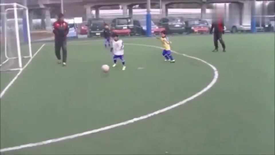 日本幼儿园孩子足球真实水平