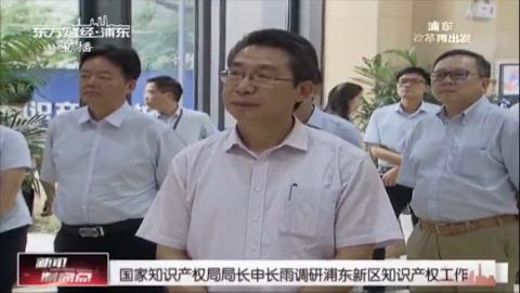 国家知识产权局局长申长雨调研浦东新区知识产权工作