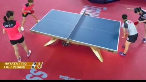 回顾:国际乒联巡回赛总决赛,女双1_4决赛,中国队不敌伊藤组合