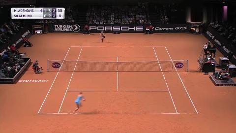 WTA斯图加特站决赛精彩击球回顾:穆拉德诺维奇